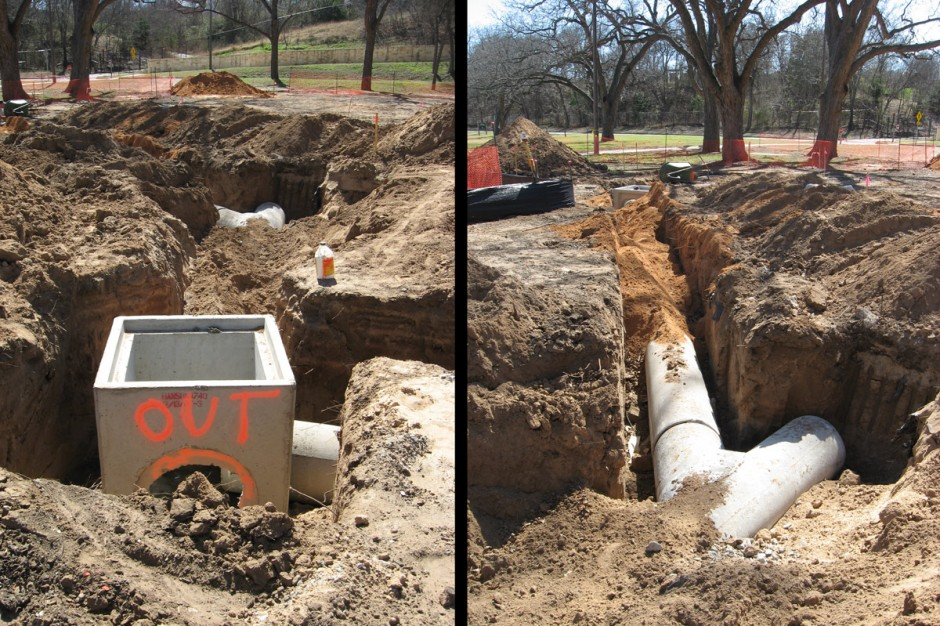 Waco Parks Drainage Out