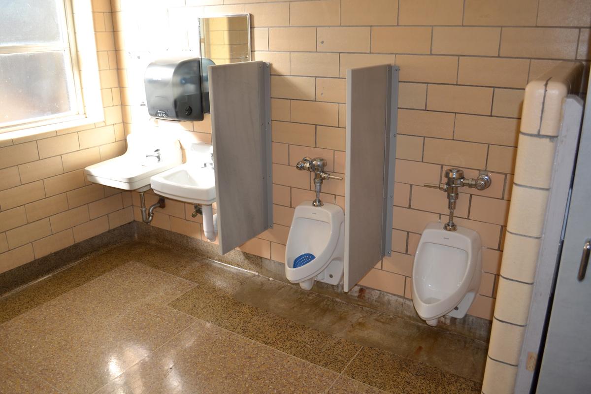 Elementary school bathroom urinal -  Restroom Stalls Sinks And Urinals